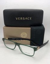 80d76003f7b99 New VERSACE Rx-able Eyeglasses VE 3211 5144 55-17 145 Transp Green  amp