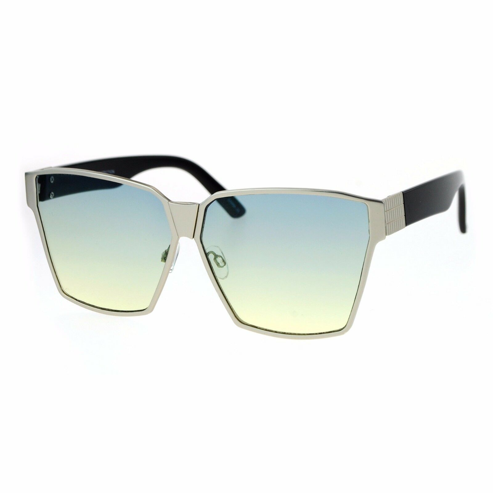 Modern Fashion Sunglasses Womens Oversized Square Light Gradient Lens