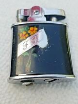 Vintage Ronson Princess Cigarette Cigar Lighter  Orange Flowers - $8.74