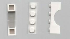 Four White LEGO 1x4 Bridge Brick - Basic Building Set. - $2.69
