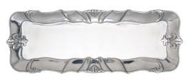 """Arthur Court Designs Aluminum 18"""" x 7"""" Fleur-De-Lis Oblong Tray - $67.88"""
