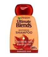 Garnier Ultimate Blends Maple and Castor Oil Shampoo 360ml - $10.07