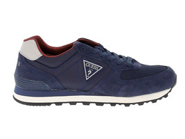 Sneakers GUESS FMCHA1 B in blue suede leather - Men's Shoes - $78.09