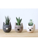 Succulent planter set / Cat head planter / Personalized felt vase / cat ... - $1.161,57 MXN