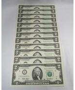12 Consecutive 2003 $2 Federal Reserve Notes Gem Crisp New Uncirculated ... - $76.37