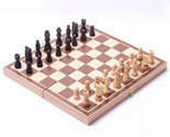 Chess Set Folding Wooden Portable Board Table Game Family Entertainment Wood Box