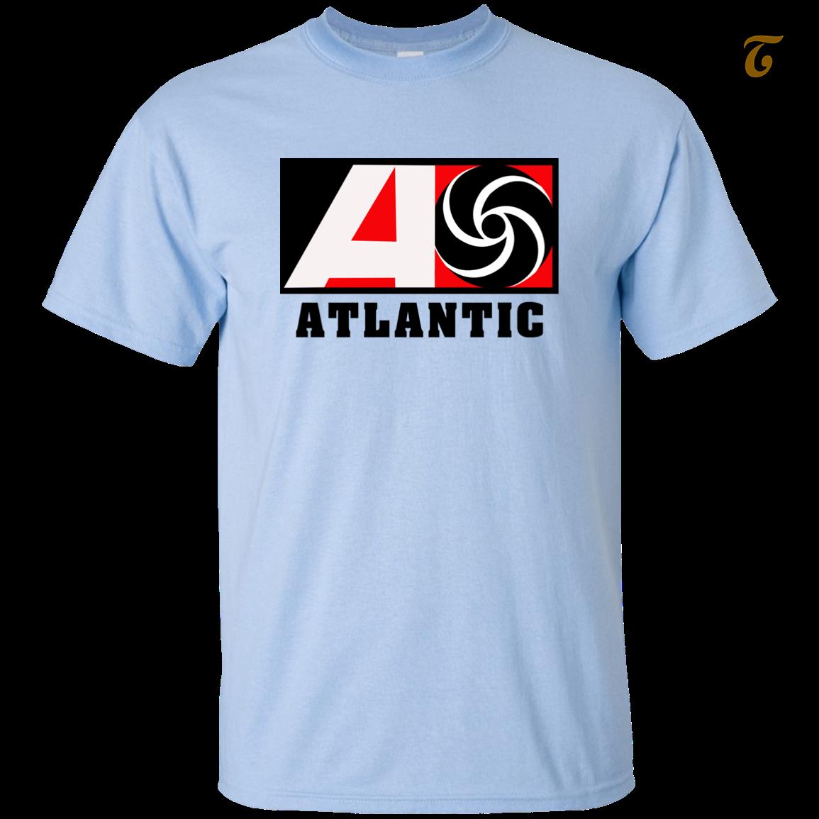 Atlantic records record label men t shirt   light blue