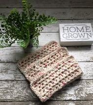 Handmade Dish Cloths Beige Organic Cotton Crochet Kitchen Dishcloth Set ... - $18.75