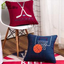 48*48cm American Basketball Hockey Cushion Children Bedroom Pillow Home Decor - $26.09