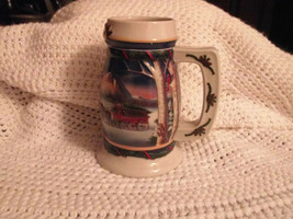2000 Budweiser Holiday in the Mountains Ceramic Beer Stein Mug - $5.99