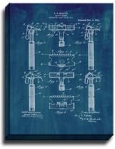Safety Razor Patent Print Midnight Blue on Canvas - $39.95+