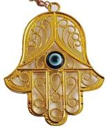 Renaissance golden metal hamsa evil eye original design from Israel holy... - £8.22 GBP
