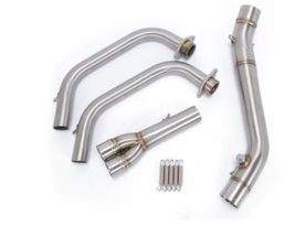 Motorcycle Muffler  Pipe Full System Exhaust Connector Adapter For Yamah... - $183.38