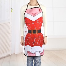 Christmas Santa Dress Print Cooking Apron(COLORMIX 80*70CM) - $12.37