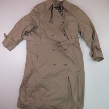 London Fog Maincoats Women's 14P Beige Flannel Lined Trench Coat with Belt - $54.70