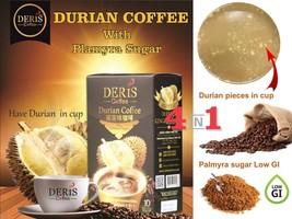 Deris instant Coffee w Montong Durian fruit pieces & Palmyra sugar Low G... - $14.29+
