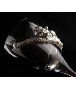 Exotic leopard Goblet - Vintage cougar cat wine glass - pewter Ngwenya s... - $60.00