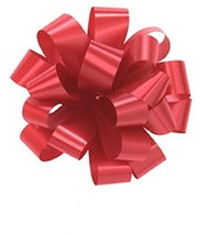 "Bows, RED Gift Pull Bows, Christmas, Wrapping, Set of 10 5"" Satin - $9.38"