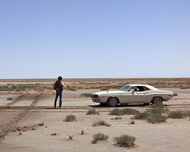 Barry Newman Vanishing Point 1970 Dodge Challenger in Desert Iconic 16x... - $69.99
