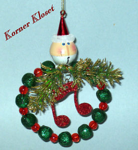 Primary image for Santa Bell - Musical Note - Bead & Bell Wreath - New