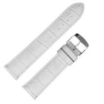 Hadley Roma MS898 24mm White Alligator Grain Genuine Leather Men's ... SHIPSFREE - $29.95