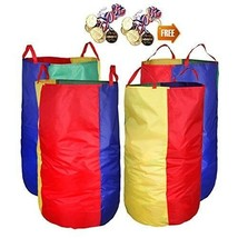 4 Pack Potato Sack Race Bags with Game Prizes for Outdoor Games Birthday... - $32.65