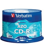 Verbatim 94523 700MB 80-Minute 52x DataLifePlus CD-Rs, Branded 50-ct Spi... - $36.95