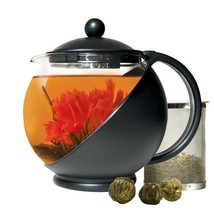 Primula Half-Moon Teapot for Flowering Tea Set – Wide Mouthed Temperatur... - $19.70