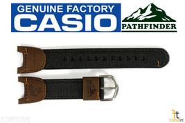 CASIO PATHFINDER PAS-400B-5V Original Fishing Timer Brown Nylon Watch BA... - $28.95