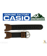 CASIO PATHFINDER PAS-400B-5V Original Fishing Timer Brown Nylon Watch BA... - $26.05