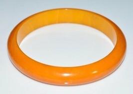 VTG Butterscotch Yellow Marbled BAKELITE Bangle Bracelet - $123.75
