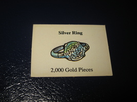 1980 TSR D&D: Dungeon Board Game Piece: Treasure 3rd Level Card- Silver Ring - $1.00