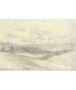 Marcus Adams - Early 20th Century Graphite Drawing, Rural Coastal Landsc... - $12.51