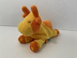 Gymboree Gymbabies cow small beanie plush beanbag yellow orange polka dots toy  - $8.90