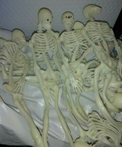 Vintage 12 inch Skeleton White Teeth Black EYES RUBBER  Halloween Toy  - $9.40