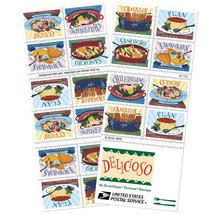 USPS 2017 Delicioso Book of 20 Forever Stamps MNH - $10.99