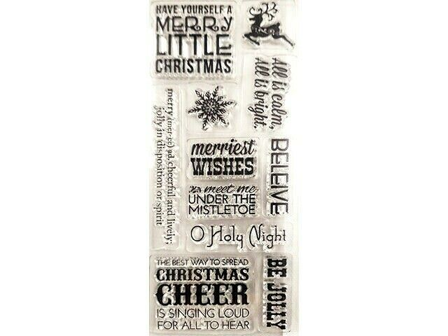 Merry Little Christmas Mixed Sentiments Stamp Set