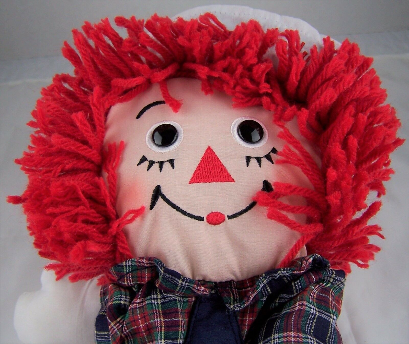 Raggedy Andy Hand Puppet Applause Hasbro 16896 Doll NWT Embroidered Face Button