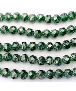 25 5/6 mm Czech Glass Small Rosebuds: Luster - Emerald - $2.03