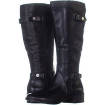 Franco Sarto Crash Wide Calf Riding Boots 036, Black, 7.5 US - $49.91