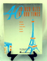 French Hits of Our Times 40 Music Book Piano Vocal Guitar 1959 - $30.69