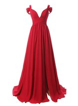 Women's Long Off Shoulder Sweetheart Formal Prom Gowns Chiffon Bridesmaid Dress - $106.99