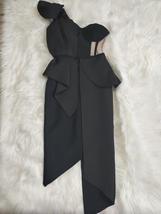 New Sexy Summer Fashion One Shoulder Bow Mesh Ruffle Sleeveless Bandage Celebrit image 5
