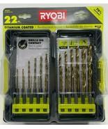 RYOBY - AR2042 - Titanium Drill Bit Kit - 22-Piece - $29.65