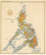 """1899 Coastal Survey State Map of the Philippines 11""""x13"""" Home School Wal... - $12.38"""
