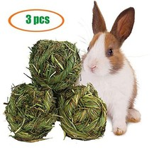 Rabbit Chew Ball Timothy Grass Grinding Small Animal Activity Play Chew ... - $14.21 CAD