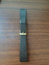 vintage 18MM genuine leather watch strap, brown strap, gold buckle. Hong... - $29.70