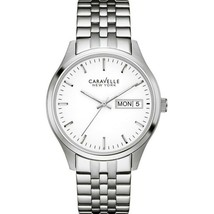 Caravelle 43N104 Women's Silver Steel Bracelet With White Analog Dial Wa... - $37.36