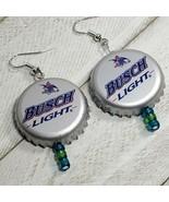 Busch light Beer Real Bottle Cap Fashion Novelty Earrings Jewelry (7) - $3.60