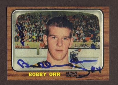 Primary image for BOBBY ORR Rookie Card RP #35 facs auto Bruins RC 1966 OPC Free Shipping